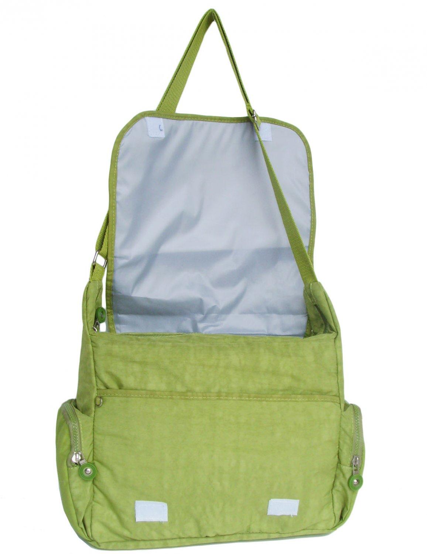 HONG YE Pure Stripe Slouch Bag,sku:hb79green4