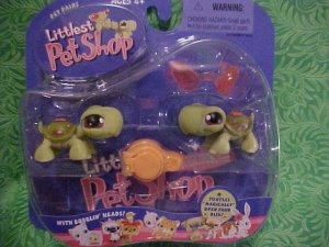 Littlest Pet Shop TWIN TURTLES with Sunglasses NIP