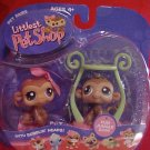Littlest Pet Shop TWIN MONKEYS Boy & Girl NIP