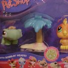 Littlest Pet Shop TURTLE & TOUCAN w/PALM TREE NIP