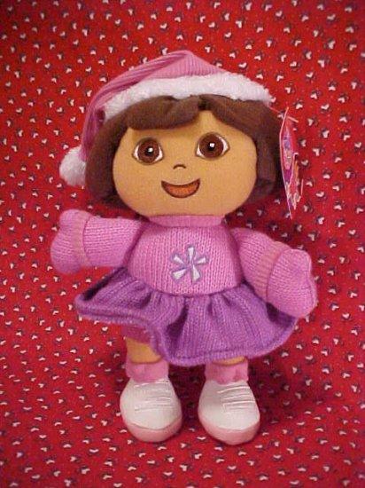 Dora The Explorer DORA Holiday Plush Gund Doll NWT