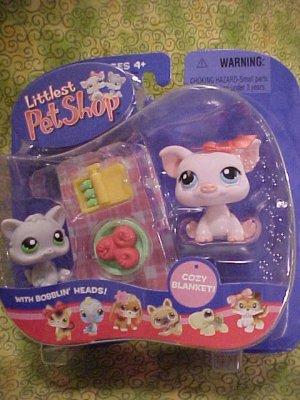 Littlest Pet Shop POT BELLY PIG & KITTEN Pet Pairs NIP