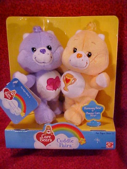 Care Bears Cuddle Pairs HARMONY & CHAMP Plush NIB Free Shipping!