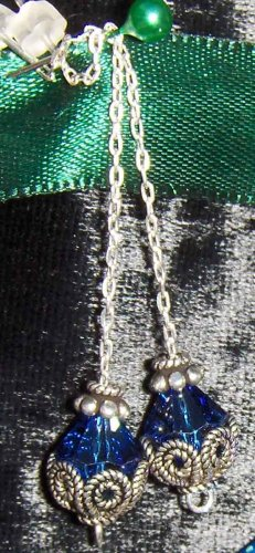Ear stringer earrings with crystals