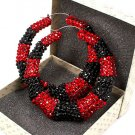 Red and Black Crystal Bamboo Earring