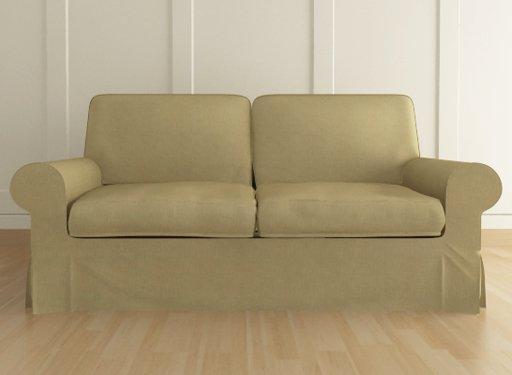 ikea ektorp 3 seater sofa custom slipcover in kino green. Black Bedroom Furniture Sets. Home Design Ideas