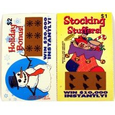 10 Pk - Holiday Gag Scratch Lotto Tickets