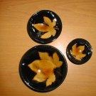 Vintage 3 Chinese maple leaf pattern bowl