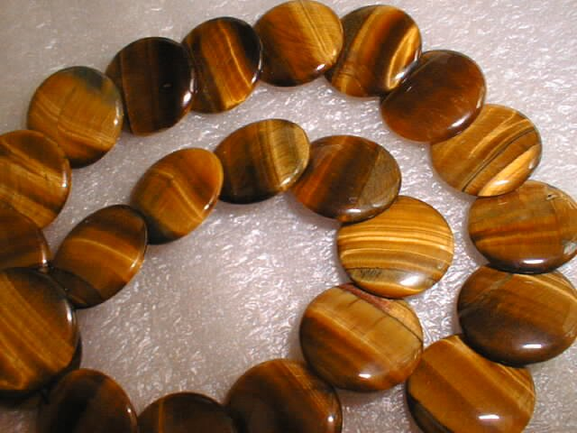 20mm big tiger eye stone flake beads/necklace