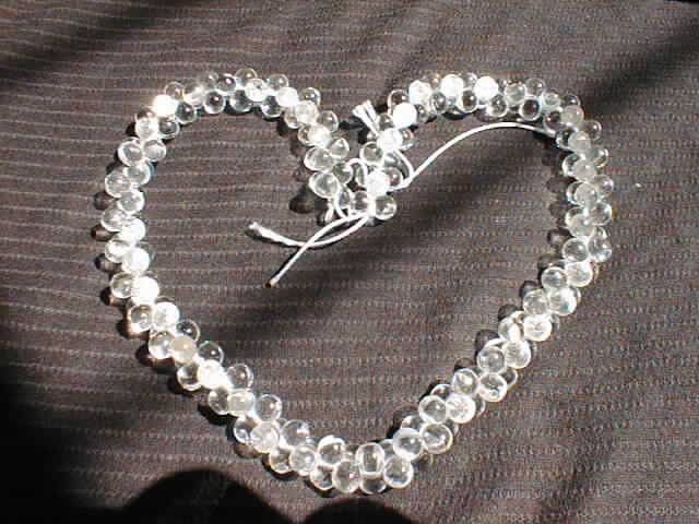 """18"""""""" length--white crystal twist necklace"""