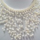 """exquisite 15"""""""" white pearl necklace"""