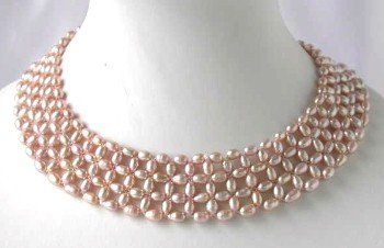 """16""""""""/Grade AA 4*6mm hand knotted lavender necklace"""