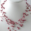 """16"""""""" fantastic red FW pearl necklace"""