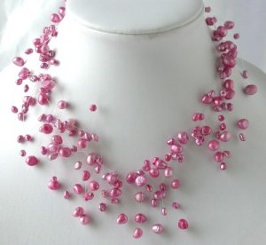 "16"""" fantastic pink FW pearl necklace"