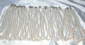 Wholesale 20 pcs 5-6mm white pearl necklace