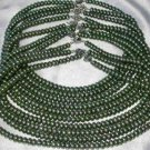 """Wholesale 5 pcs 16"""""""" 6-7mm green pearl necklace"""
