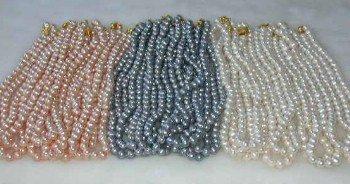 """Wholesale 30 pcs. 17"""""""" 7-8mm multicolor pearl necklace"""