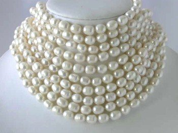 """Wholesale 10 ps 16"""""""" 9-10mm white pearl necklace"""