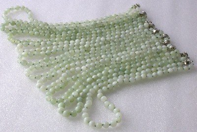 Wholesale 10 pcs 8mm green jade beads necklace