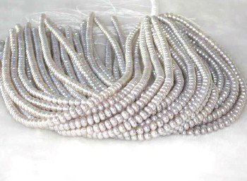 "wholesale 16"""" 6-7mm gray pearl necklace strings"