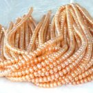 "wholesale 16"""" 6-7mm orange red pearl necklace strings"
