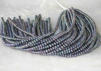 "wholesale 16"""" 6-7mm peacock pearl necklace strings"