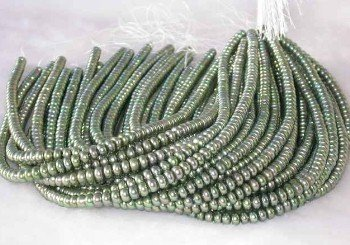 """wholesale 16"""""""" 6-7mm green pearl necklace strings"""
