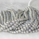 """wholesale 16"""""""" 9-10mm gray pearl necklace strings"""