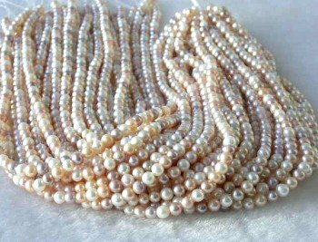 "wholesale 16"""" 5-6mm multicolor pearl necklace strings"