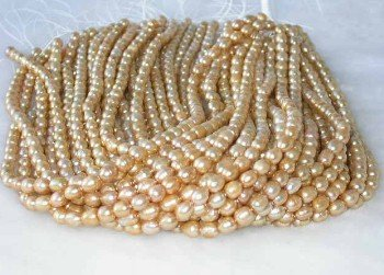 "wholesale 16"""" 6-7mm yellow pearl necklace strings"