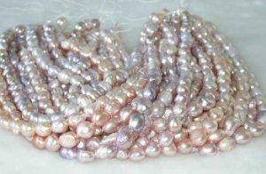 "wholesale Baroque 16"""" purple pearl necklace strings"