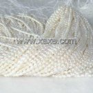 """wholesale 4-4.5mm 16"""""""" white pearl necklace strings"""