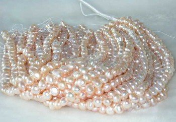 """wholesale 8-9mm 16"""""""" pink pearl necklace strings"""