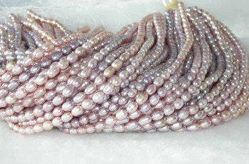 """wholesale 6-7mm 16"""""""" purple pearl necklace strings"""