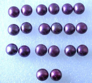 Wholesale 10 pairs 9-9.5mm wine-red pearl S925 earring