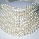 """Wholesale 10 pcs. 17"""""""" 7-8mm white pearl necklace"""