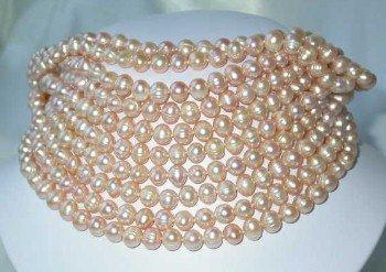 "Wholesale 10 pcs. 17"""" 7-8mm pink pearl necklace"