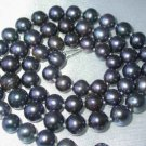 "17"""" lustrous 7-8mm black pearl necklace"