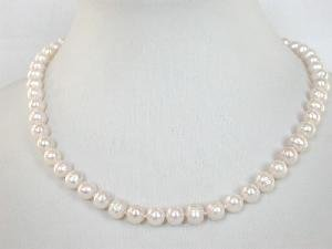 """Beautiful! 16"""""""" 7-8mm white cultured FW Pearl necklace"""