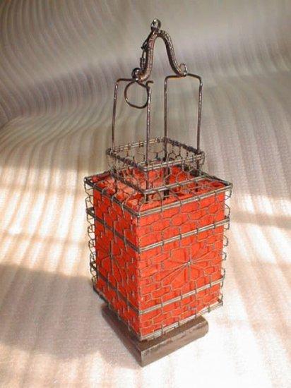square stunning red Chinese traditional stye lantern