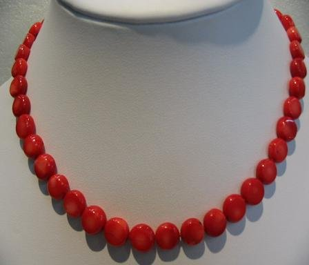 "16.5"""" beautiful red coral necklace"