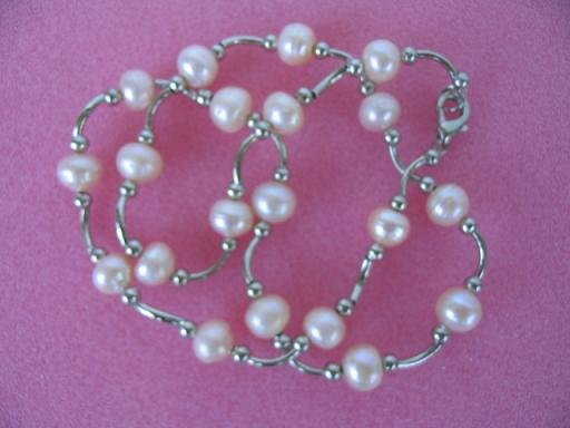 "graceful 17"""" pink F/W pearl necklace"