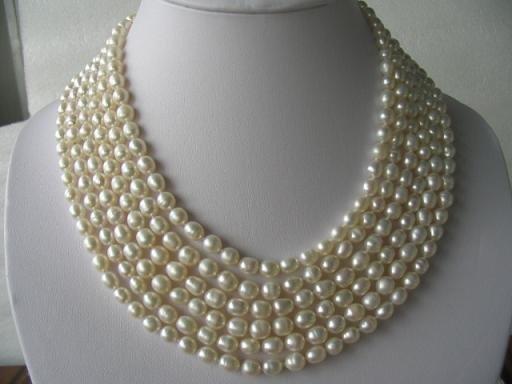 "116"""" super lustrous white FW pearl necklace"