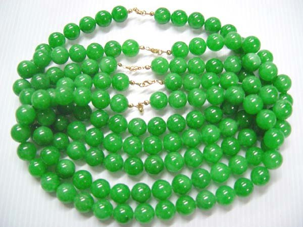 wholesale 5 piece 17'' 12mm Malaysia jade necklace