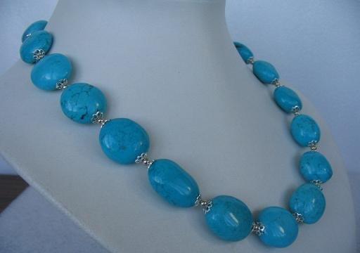 "18"""" exquisite blue turquoise necklace"