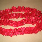"""32"""""""" red coral water drip shape necklace"""
