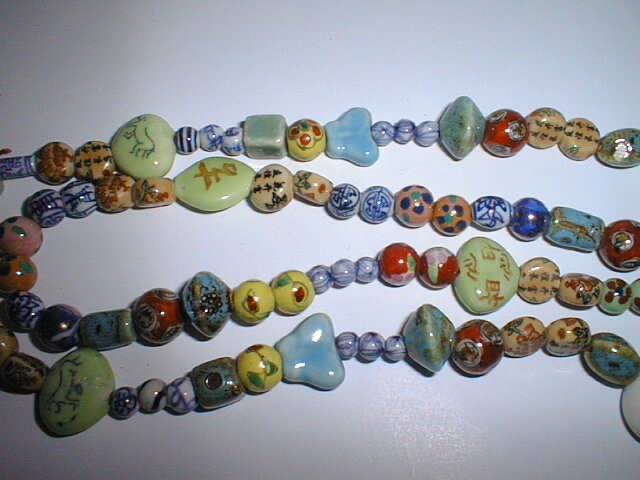 Exquisite hand made Chinese porcelain beads