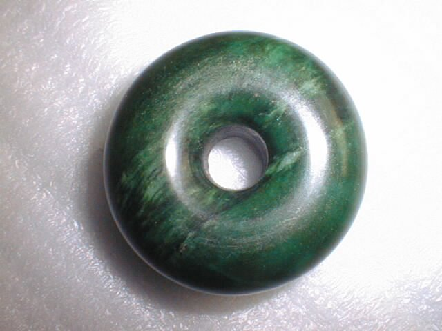 stunning green jade pendent for necklace or strap