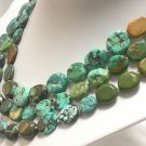 51'' 12-13MM SINGLE OLD BLUE TURQUOISE NECKLACE