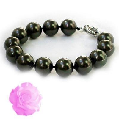 8'' AAA 12mm Tahitian Seashell Pearl bracelet